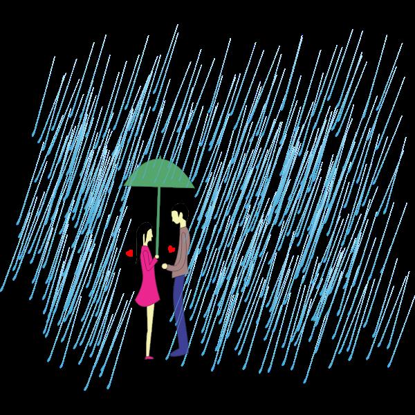 Shared Umbrella Couple
