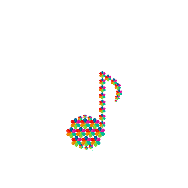Flower eighth note vector image