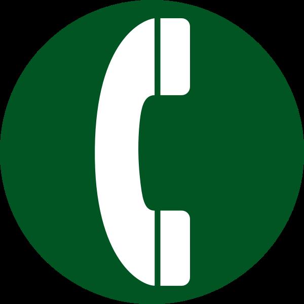 aiga telephone bg green