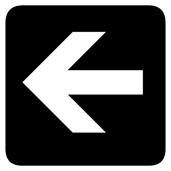 AIGA left arrow sign inverted vector image