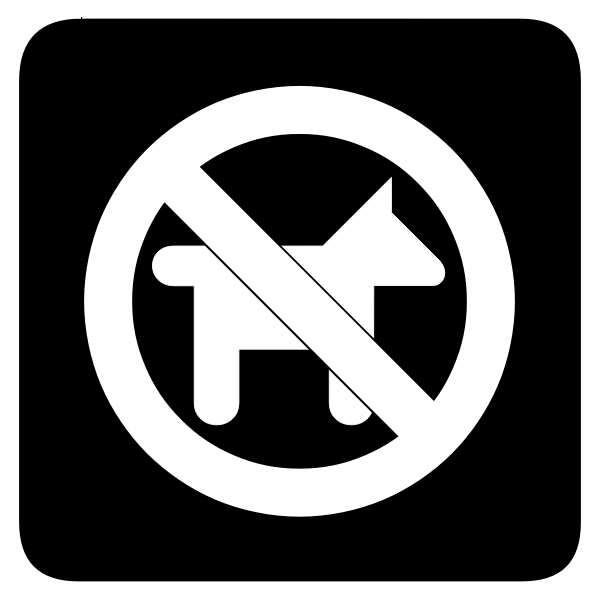 No dogs icon vector illustration