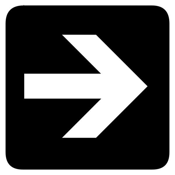 AIGA right inverted arrow sign vector image