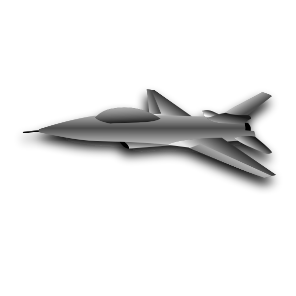 Vector illustration of military aircraft