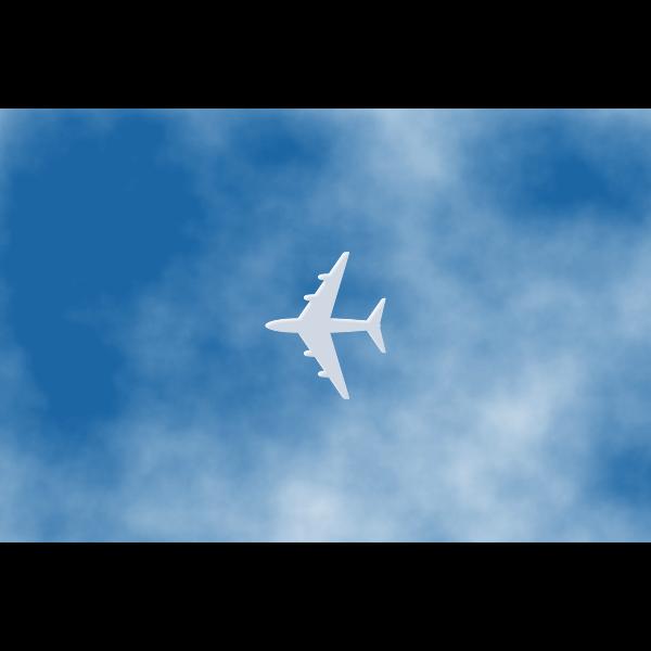 White airplane vector
