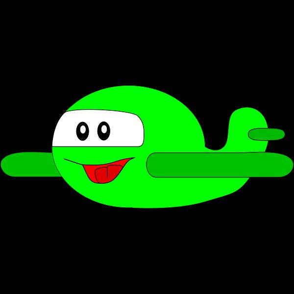 Happy green airplane vector graphics