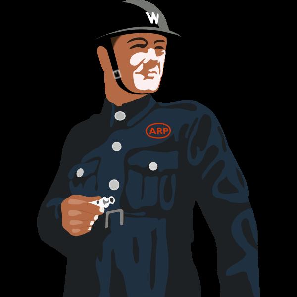 Air Raid Warden vector image