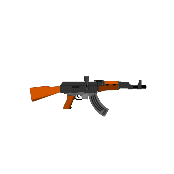 AK47 gun vector image