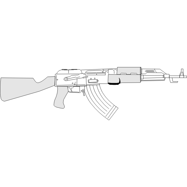 AK47 machine gun vector