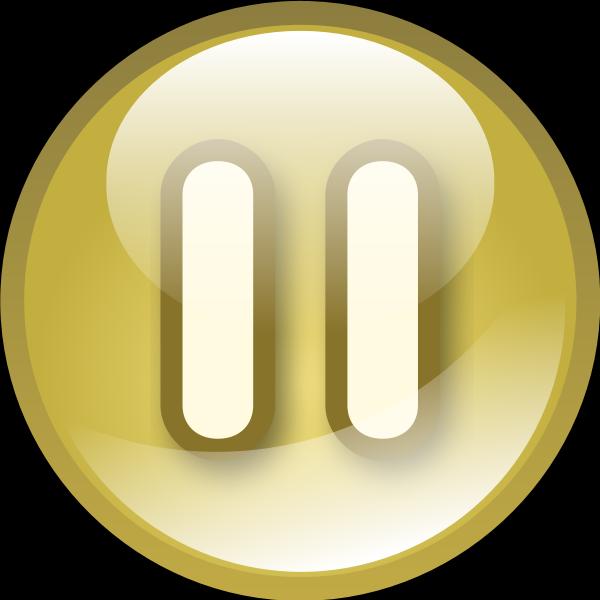 Yellow audio button vector clip art