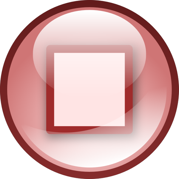 Pink audio button vector image