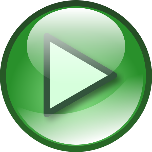 Green audio button vector graphics