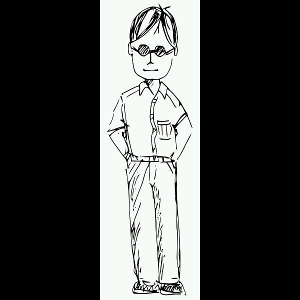 Man sketch drawing