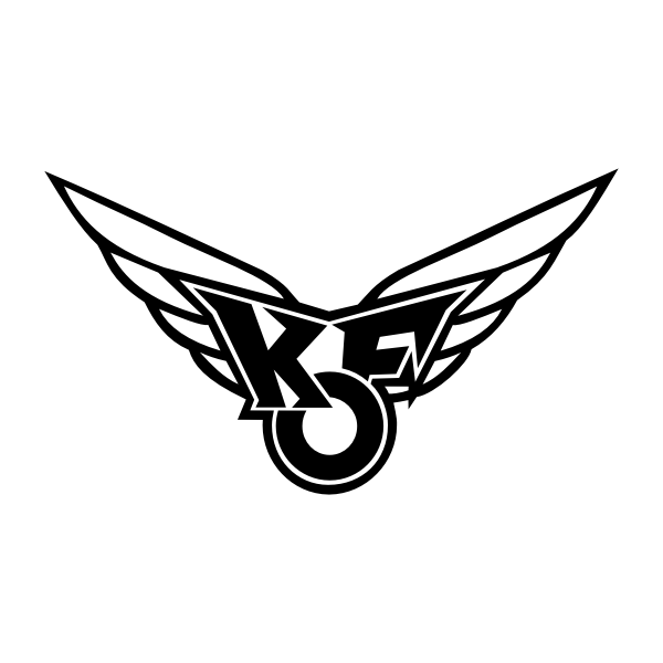 Vector illustration of KF wings logo