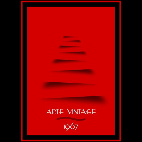 Red vintage poster