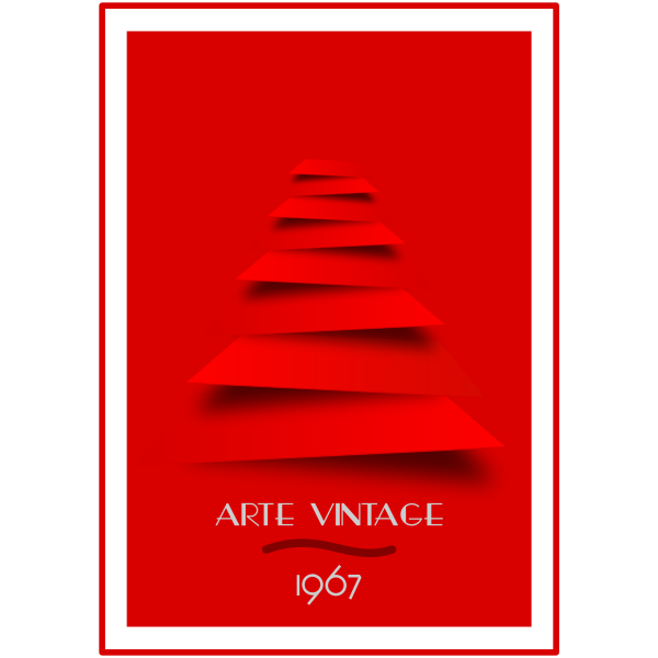 Red retro poster