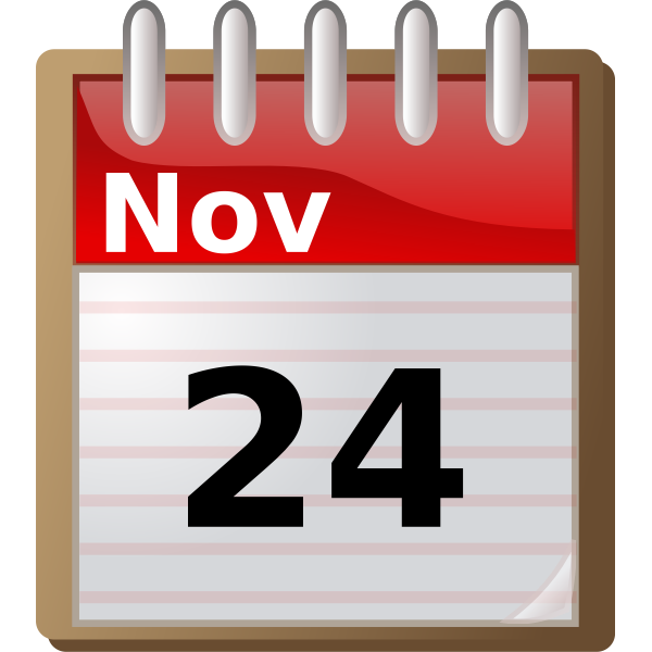 Spiral calendar icon vector image