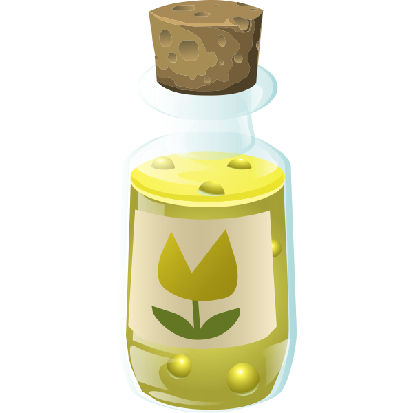 Bottle with flower inside