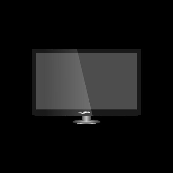 Plasma TV vector clip art