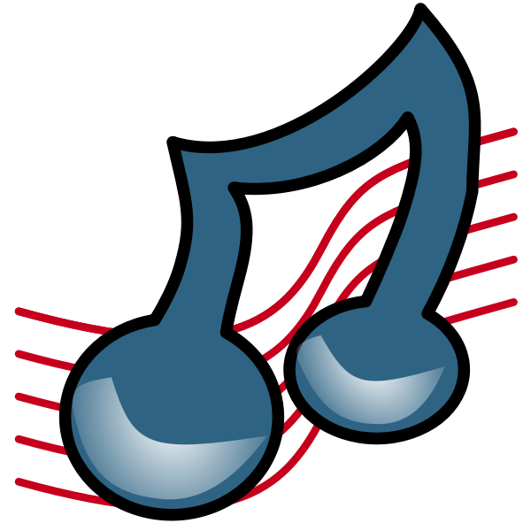 Twisted musical note vector image