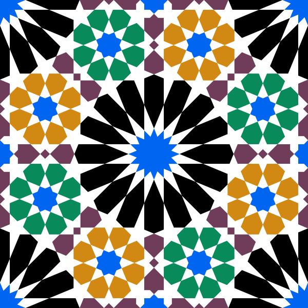 Alhambra tile vector image