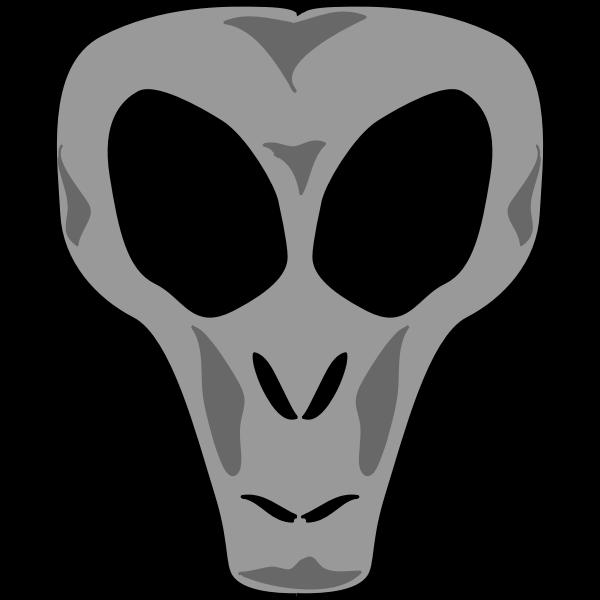 Alien's head vector image