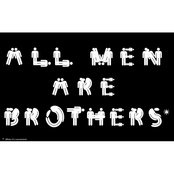 ''All Men Are Brothers'' typography