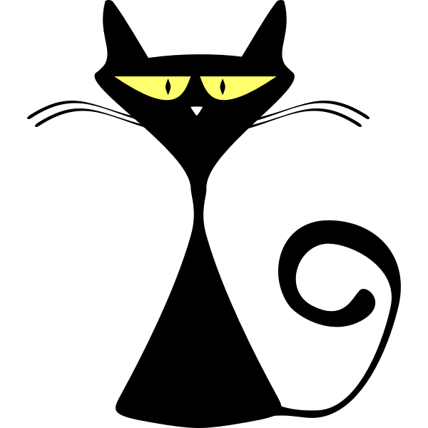 Alley cat silhouette vector illustration