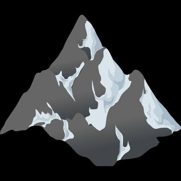 alpine landscape cone top snow 01a al1