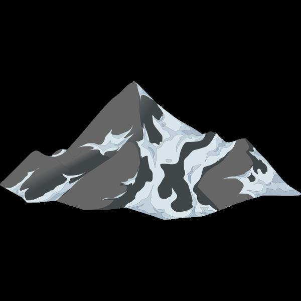alpine landscape cone top snow 01b al1