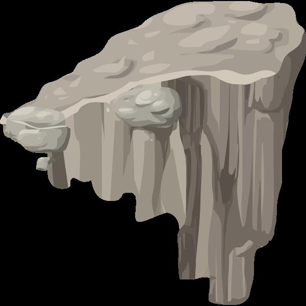 Rock with platform