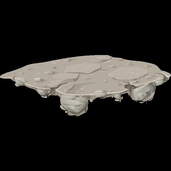 Mountain ice platform