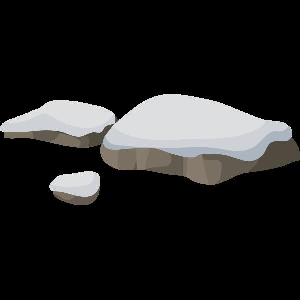 Rocks under the snow