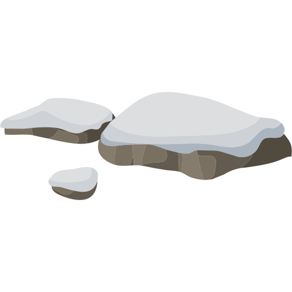 Rocks under the snow