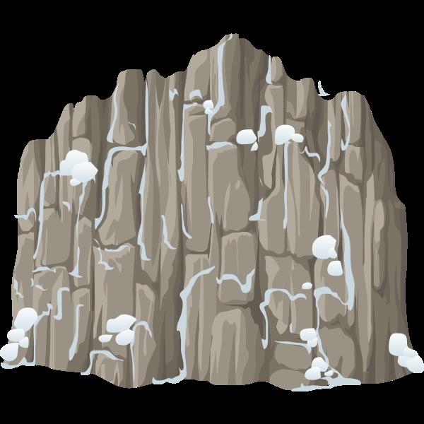 Tall snowy cliff