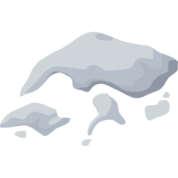 Pieces of snow and ice