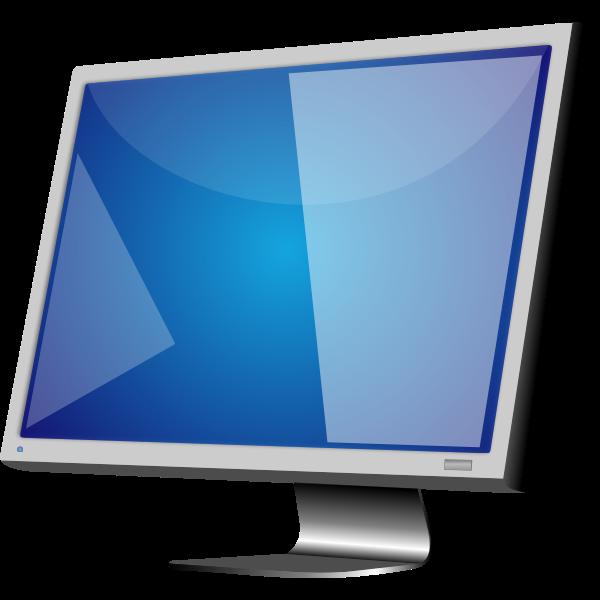 Grey LCD monitor vector image