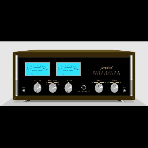 Vintage amplifier vector image