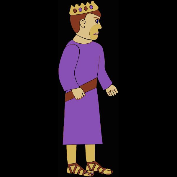 Vector clip art of unhappy king