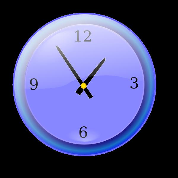 Analog clock vector graphics