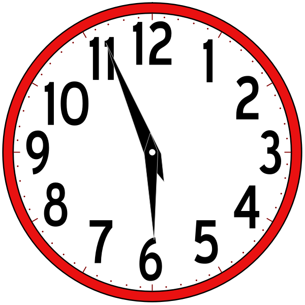 Wall analog clock