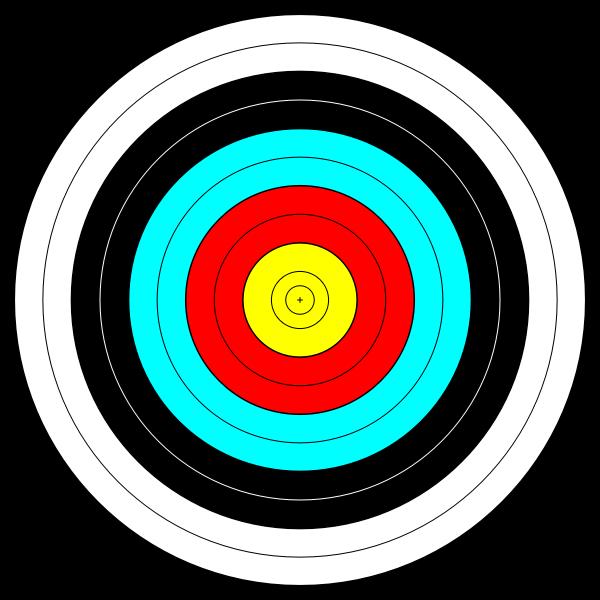 Vector clip art of target