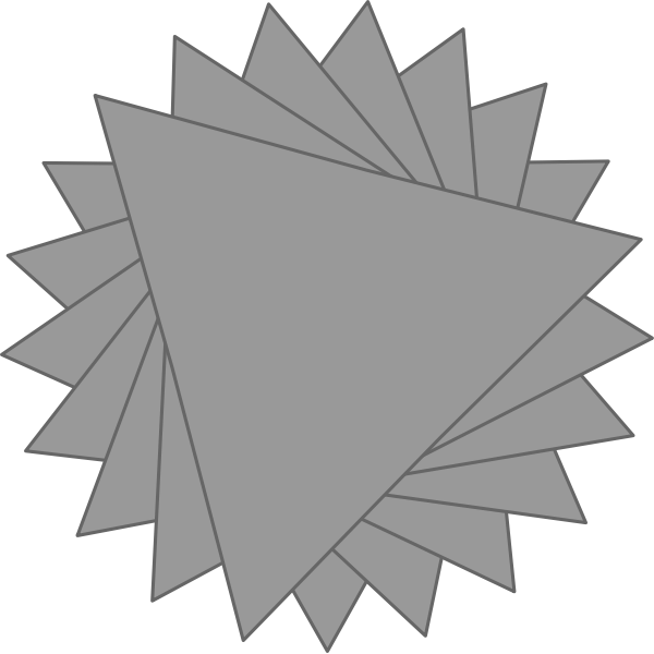 Vector image of flower made of triangles