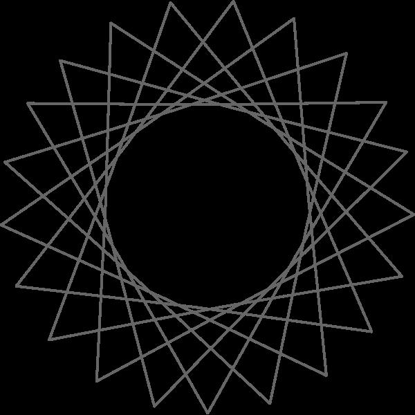 Vector illustration of line art sun