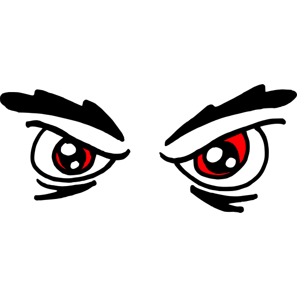 Angry red eyes