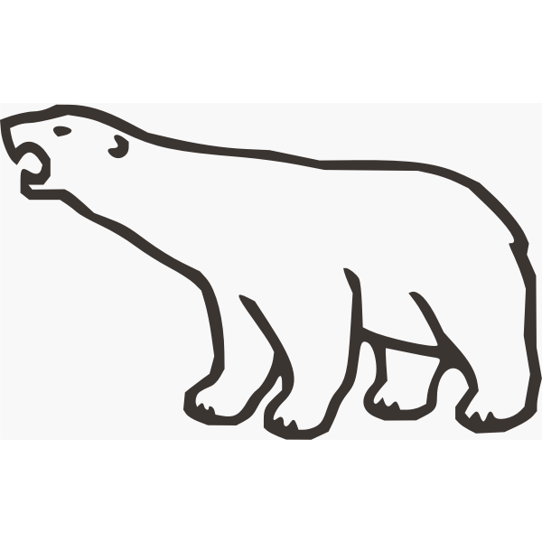 Polar bear vector art
