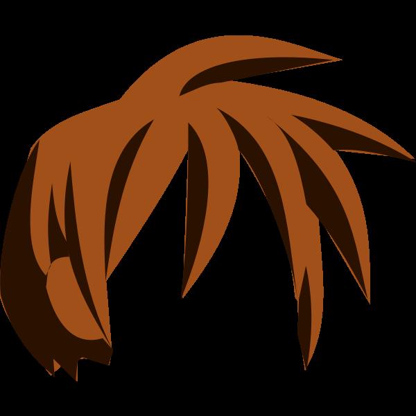 Vector drawing of manga kid hair element