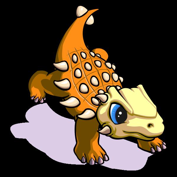 Raging cartoon dinosaur