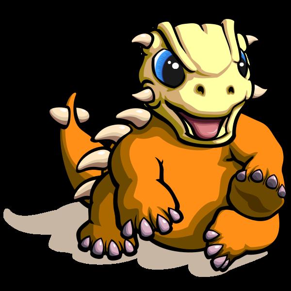 Cartoon sitting dinosaur