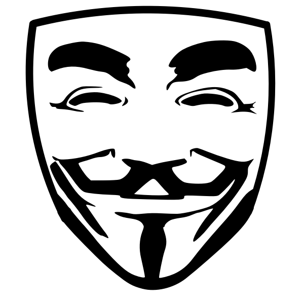 Anonymous Face Mask Free Svg