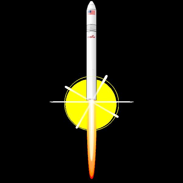 Antares orbital rocket vector image